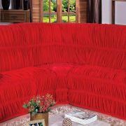 Capa para Sofa de Canto Vermelho Belcapas