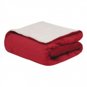Coberdrom Flannel Sherpa Vermelho 245x220 Casal