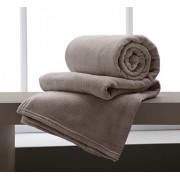 Cobertor Manta De Microfibra King 2,20x2,40m Corttex Marrom