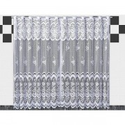 Cortina De Renda Para Cozinha Karla  2,00x1,20+30cm Branca