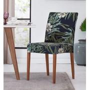 Jogo Com 2 Capas de Cadeira em Malha Helanca Adomes Folhas