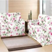 Kit Capa De Sofa Com 2 E 3 Lugares Estampado Verde Gorgurinho