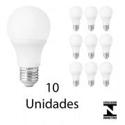 Kit com 10 Lampadas Led Branca de 12w Bivolt
