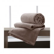 Manta Microfibra Home Design King / Taupe