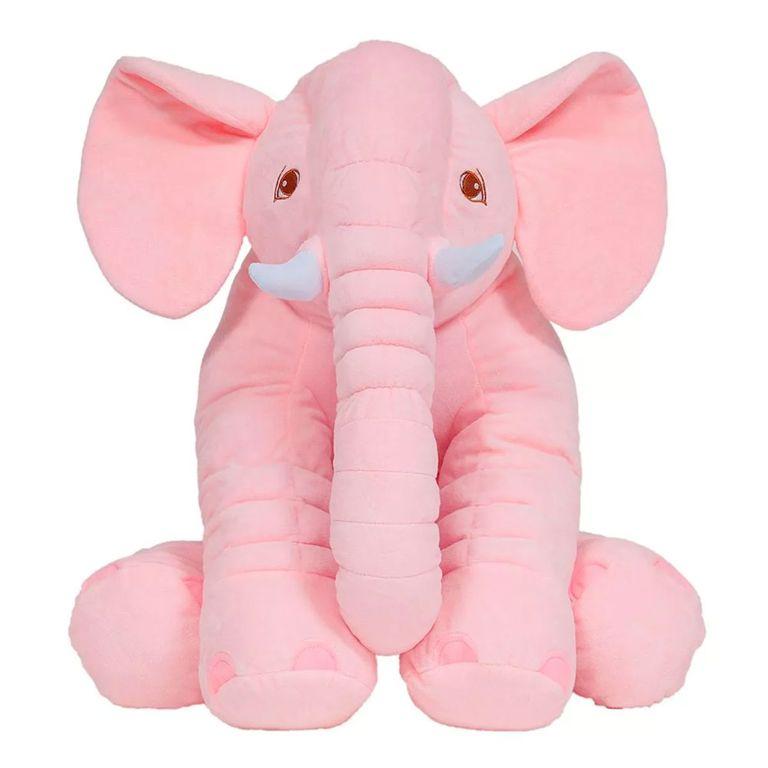 Almofada de Elefante para Bebê 60cm - Rosa