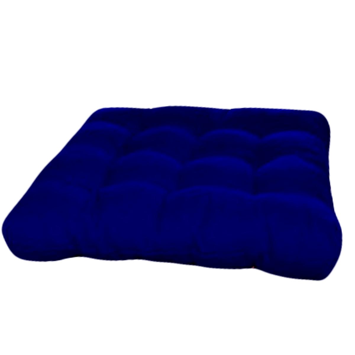 Assento Para Cadeira Futon 40x40 Cm - Azul Royal
