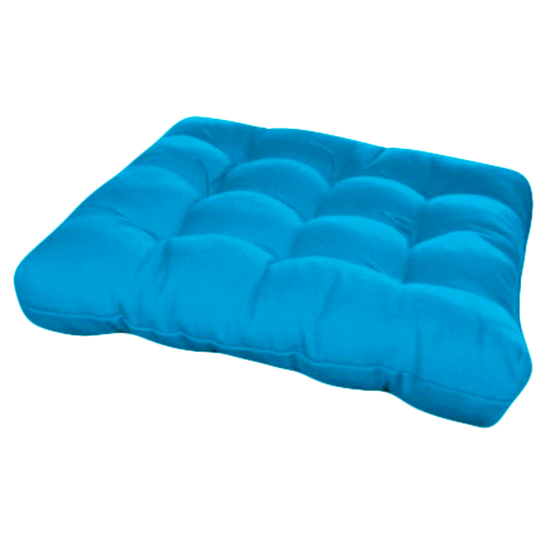 Assento Para Cadeira Futon 40x40 Cm - Azul turquesa