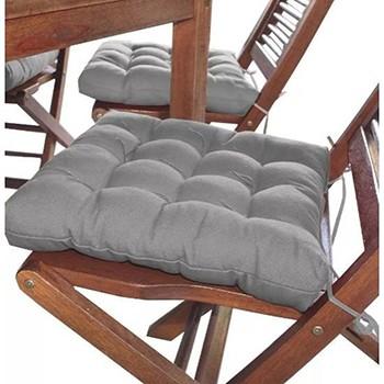 Assento Para Cadeira Futon 40x40 Cm - Cinza