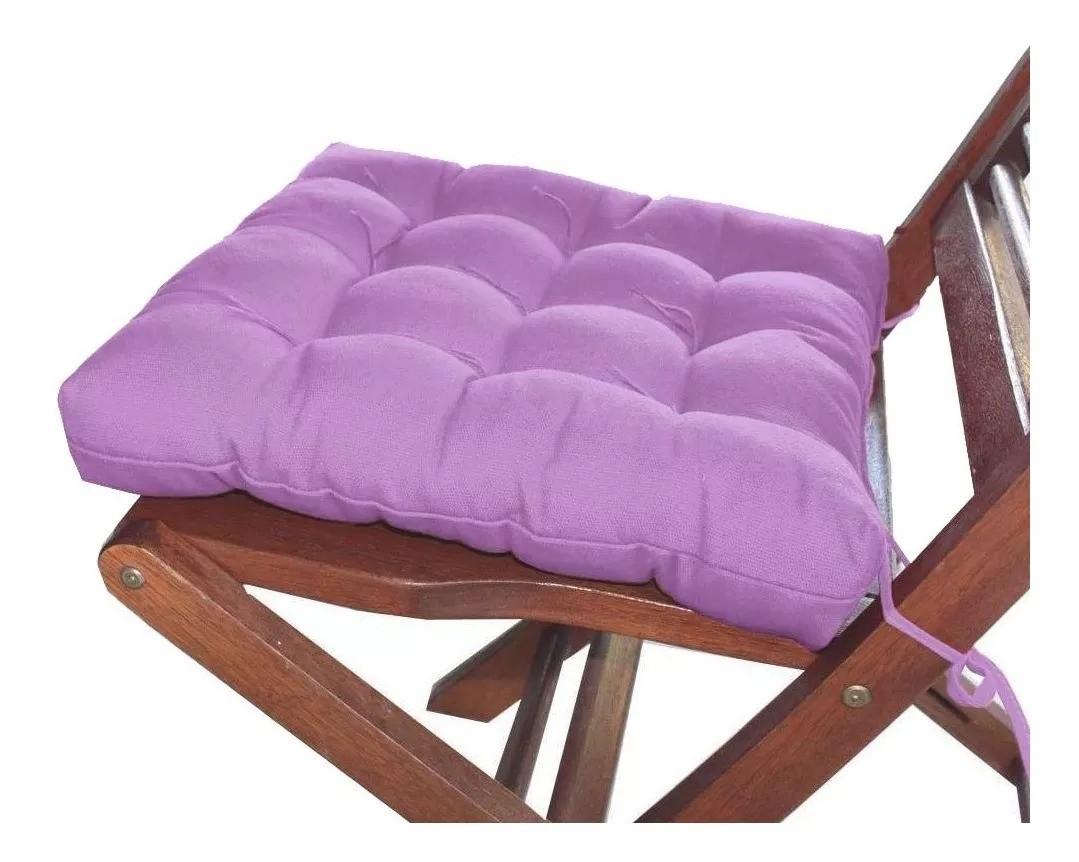 Assento Para Cadeira Futon 40x40 Cm - Lilas