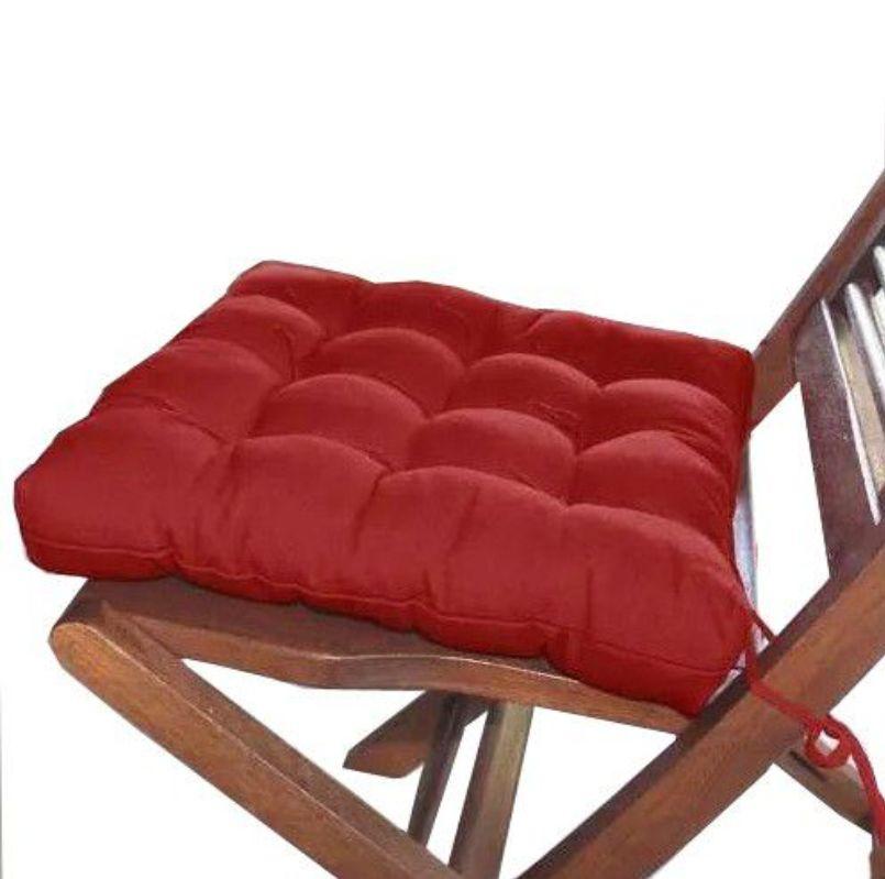 Assento Para Cadeira Futon 40x40 Cm - Vermelho