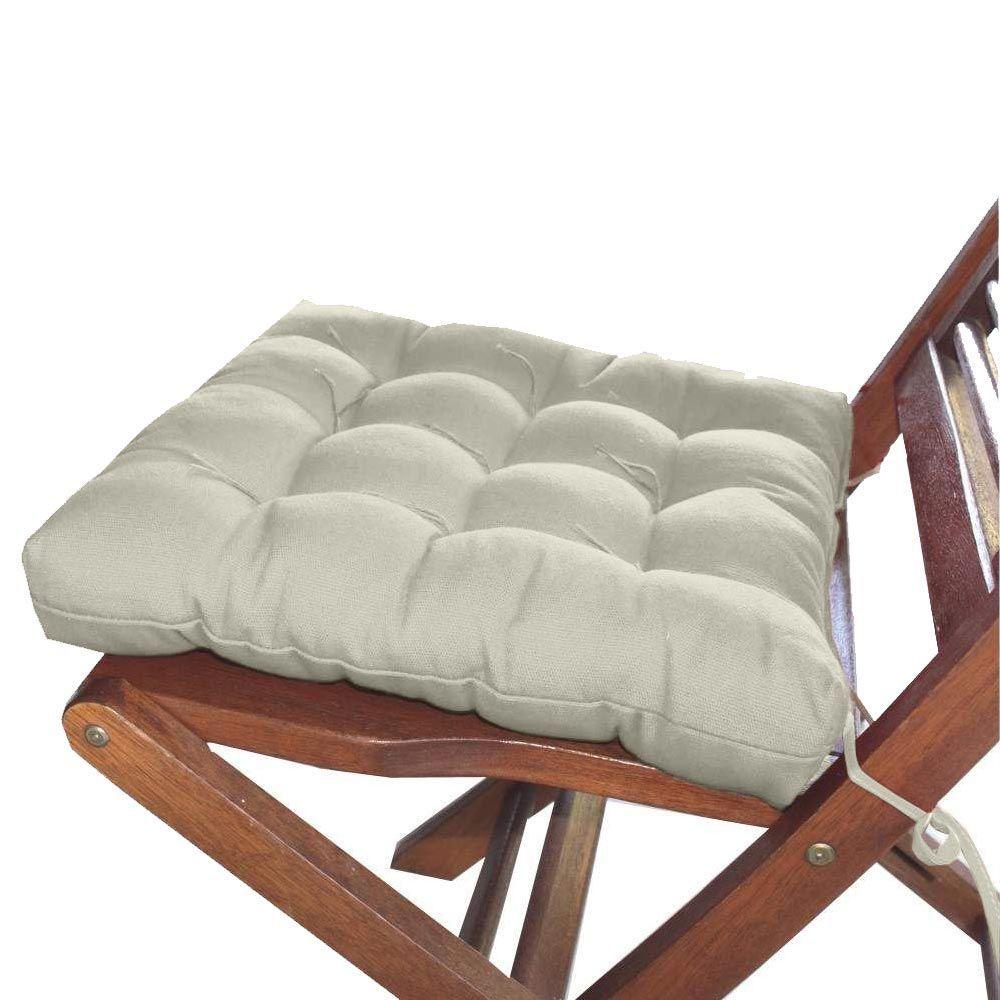 Assento Para Cadeira Tecido Futon 40x40cm - Bege