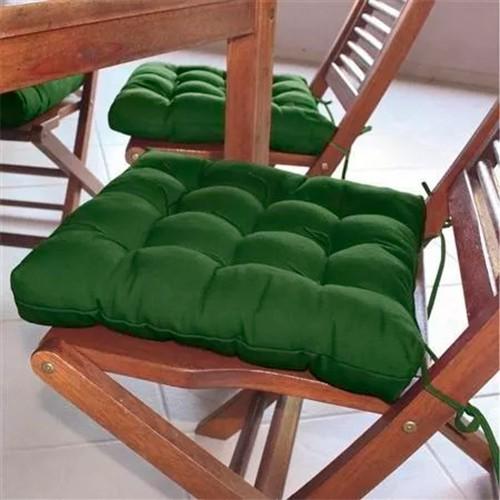 Assento para cadeira Tecido Oxford 40x40cm Futon CouroeCor Verde Bandeira