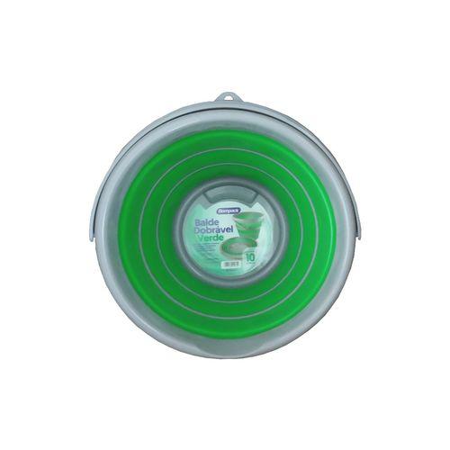 Balde Retratil Dobravel 10 litros Verde