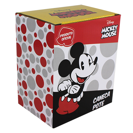 Caneca Pote Fosca 450ml Mickey Zona Criativa