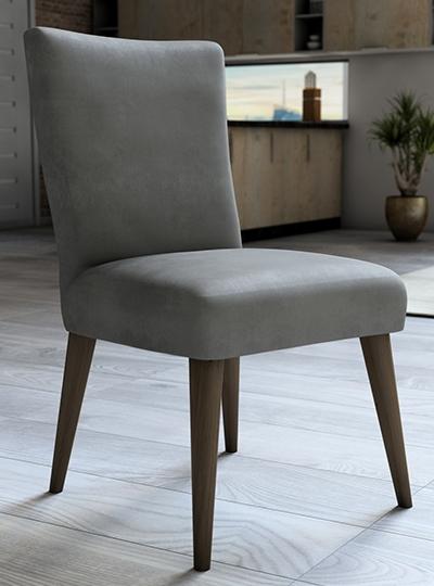 Capa De Veludo Para Cadeira Cinza
