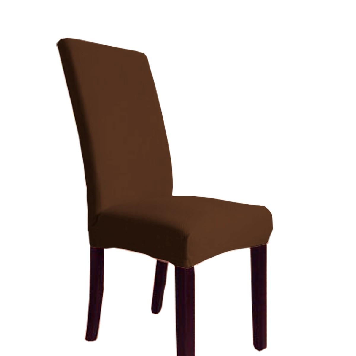 Capa Para Cadeira Avulsa Cacharrel Tam Unico Marrom