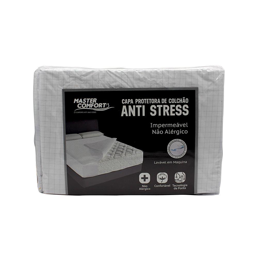 Capa Para Colchão Casal Impermeavel Anti-Stress Peletizado