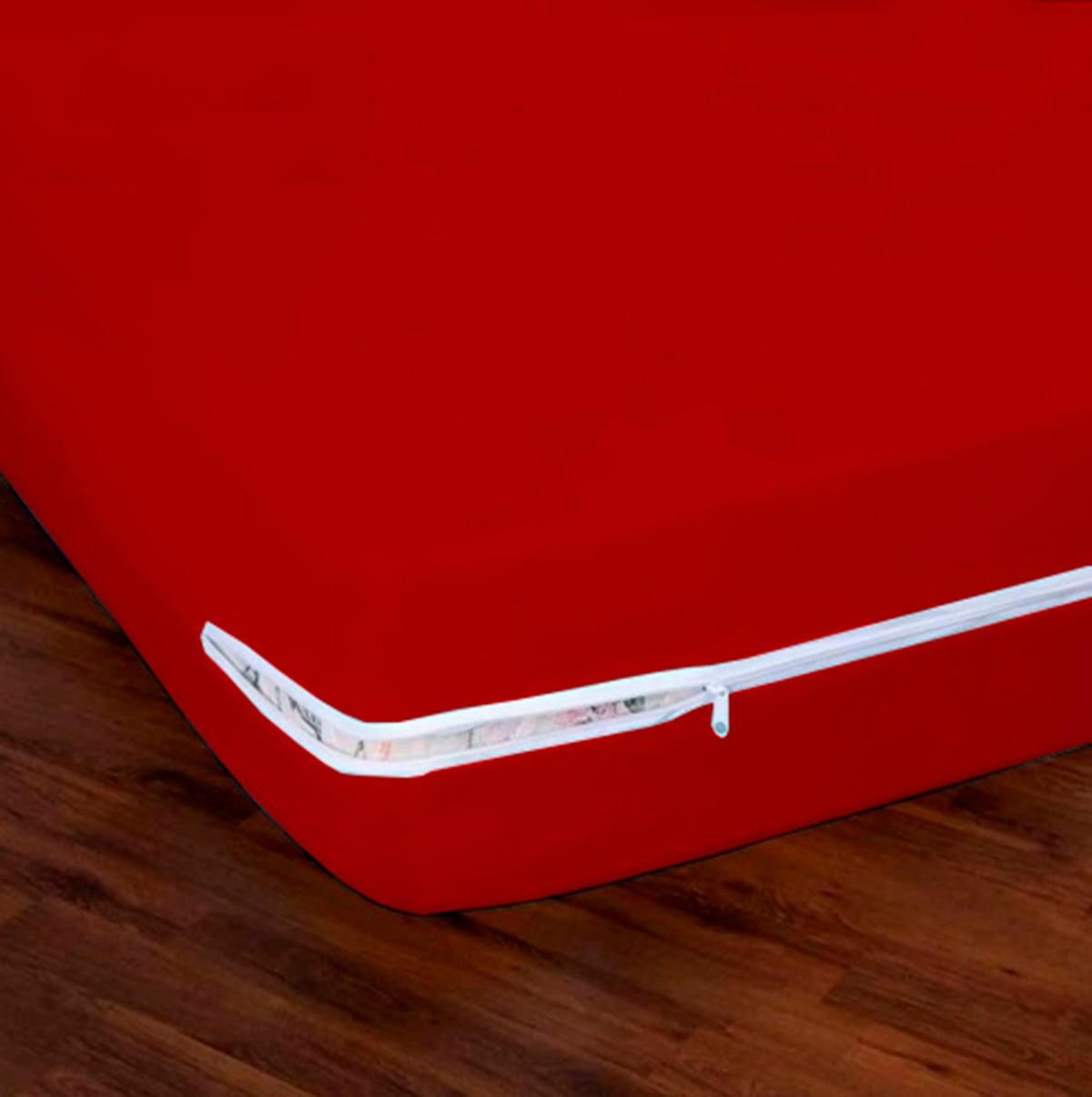 Capa para Colchão de Malha Gel Solteiro 188x88cm Vermelho
