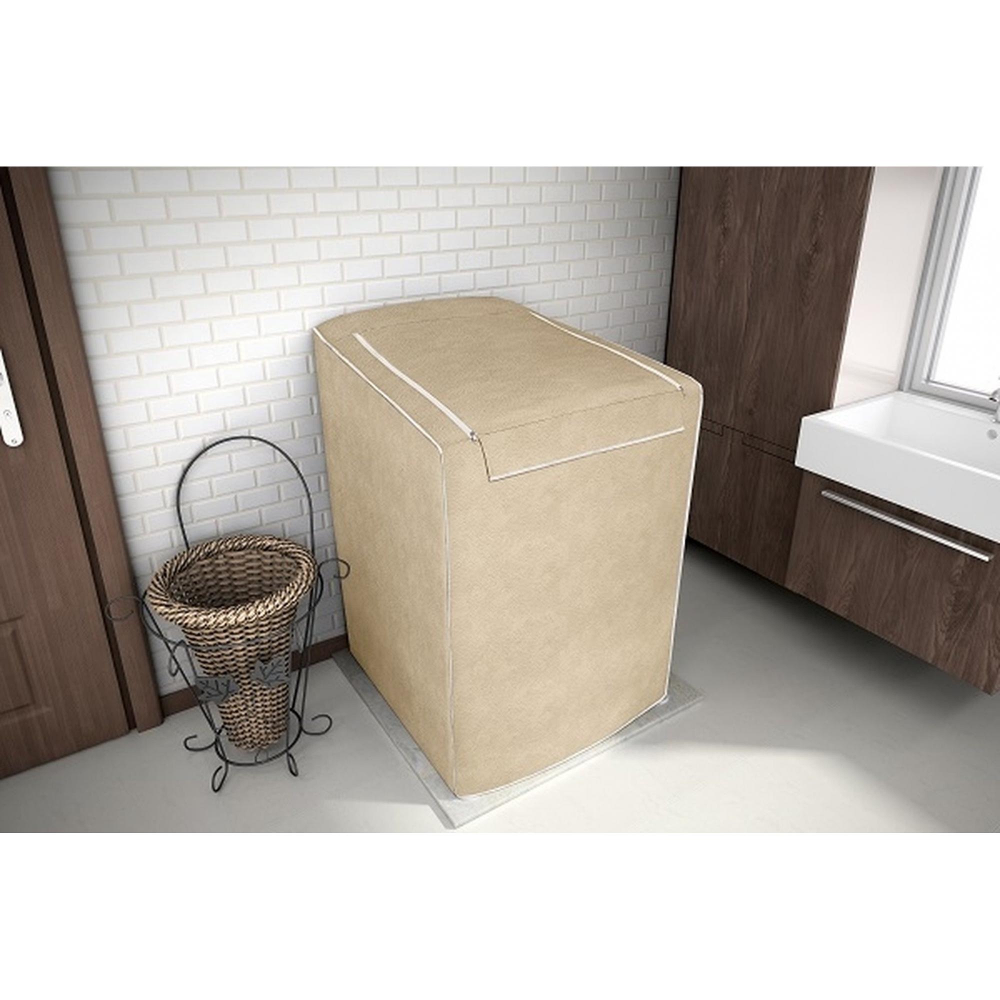 Capa para maquina de lavar Tamanho P Bege