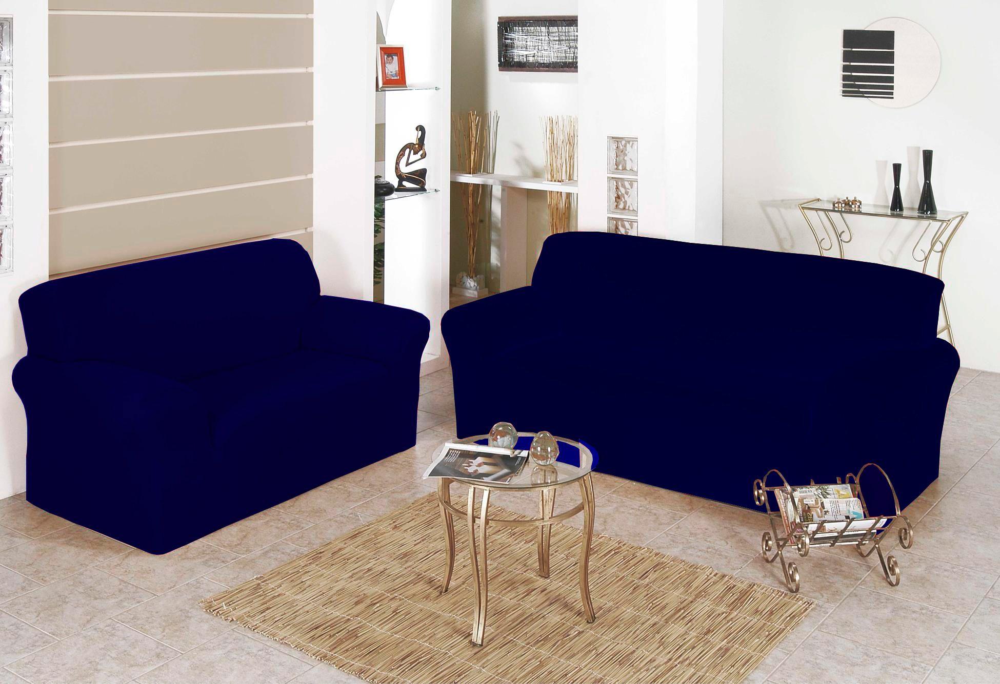 Capa para Sofa Belissima 2 e 3 Lugares Marinho