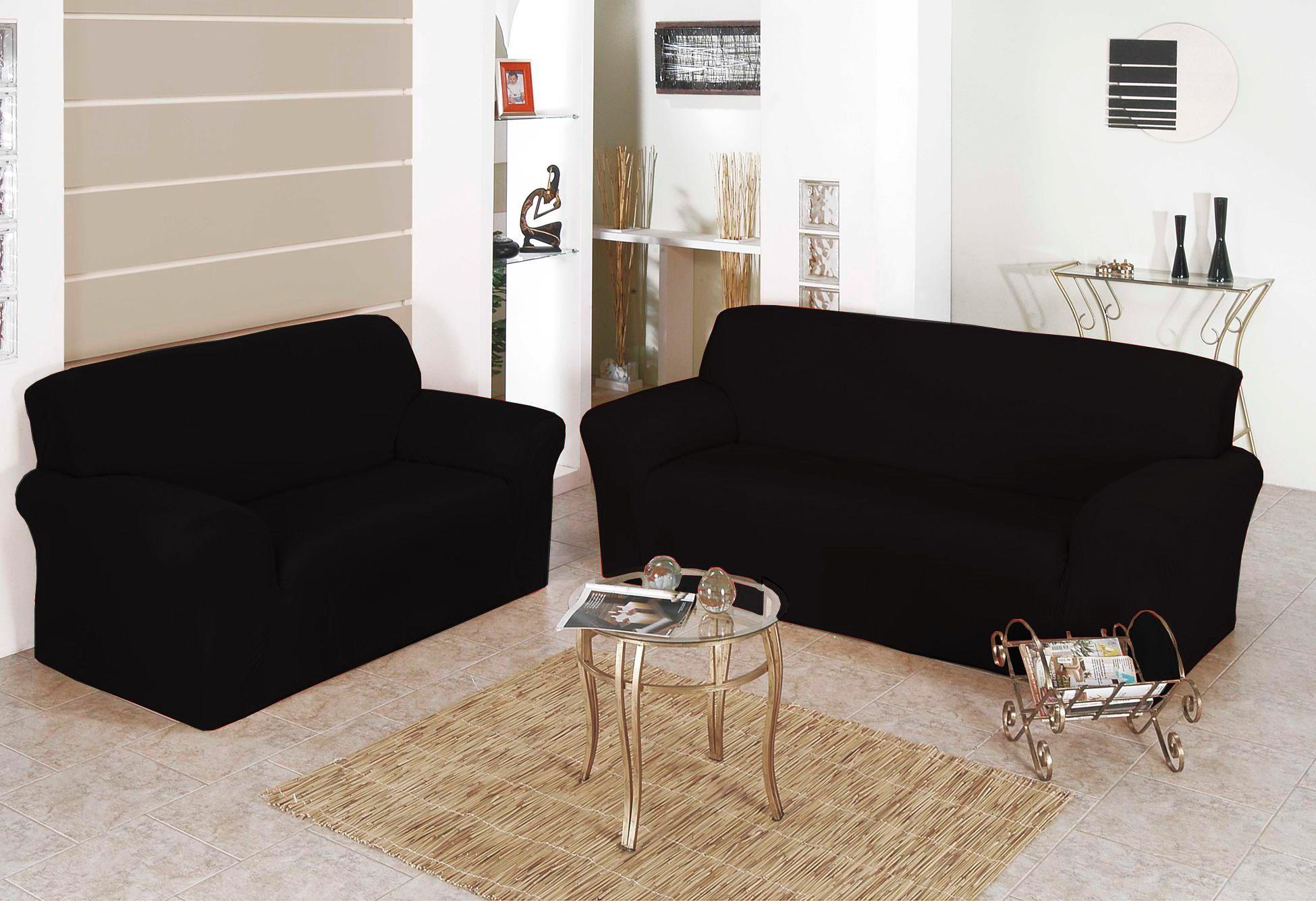 Capa para Sofa Belissima 2 e 3 Lugares Preto