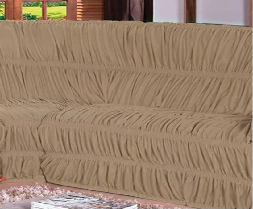 Capa Para Sofa De Canto Bege Belcapas