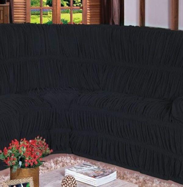 Capa para Sofa de Canto Preto Belcapas