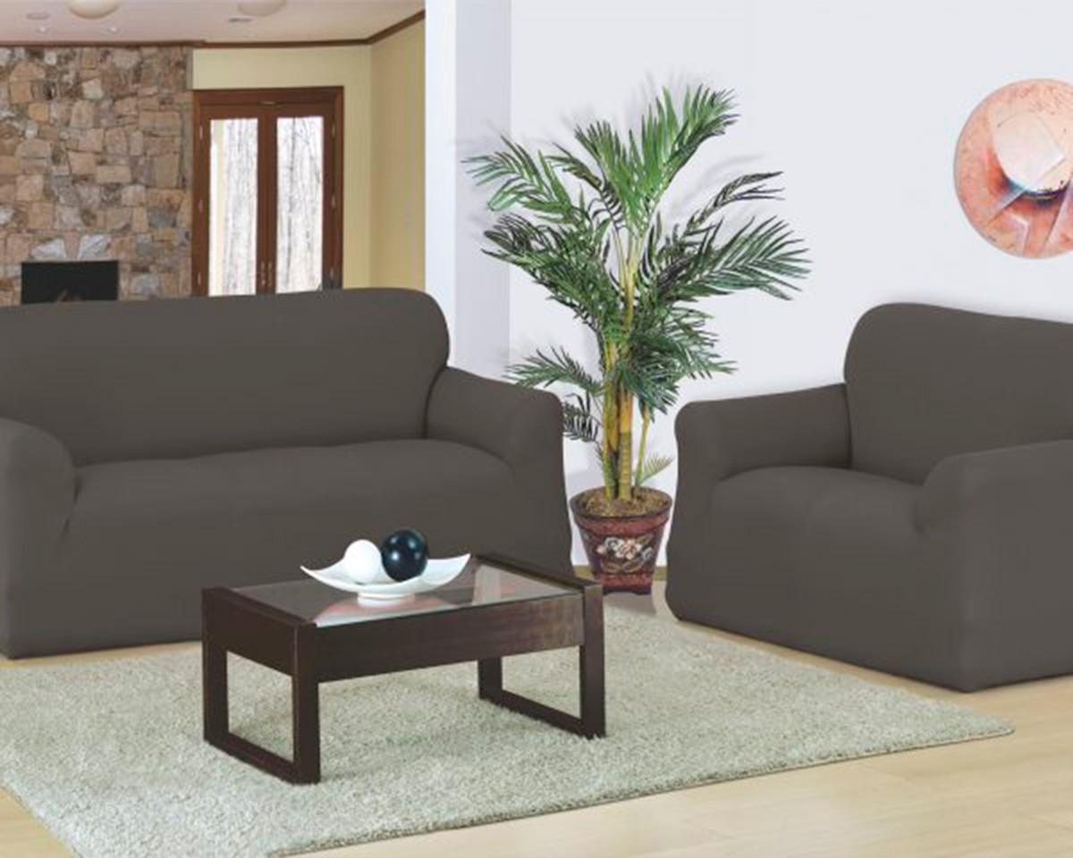 Capa para sofa Favorita 2 e 3 Lugares Cinza Chumbo