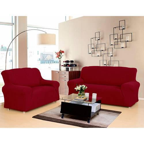 Capa para Sofa Malha New City Vermelha
