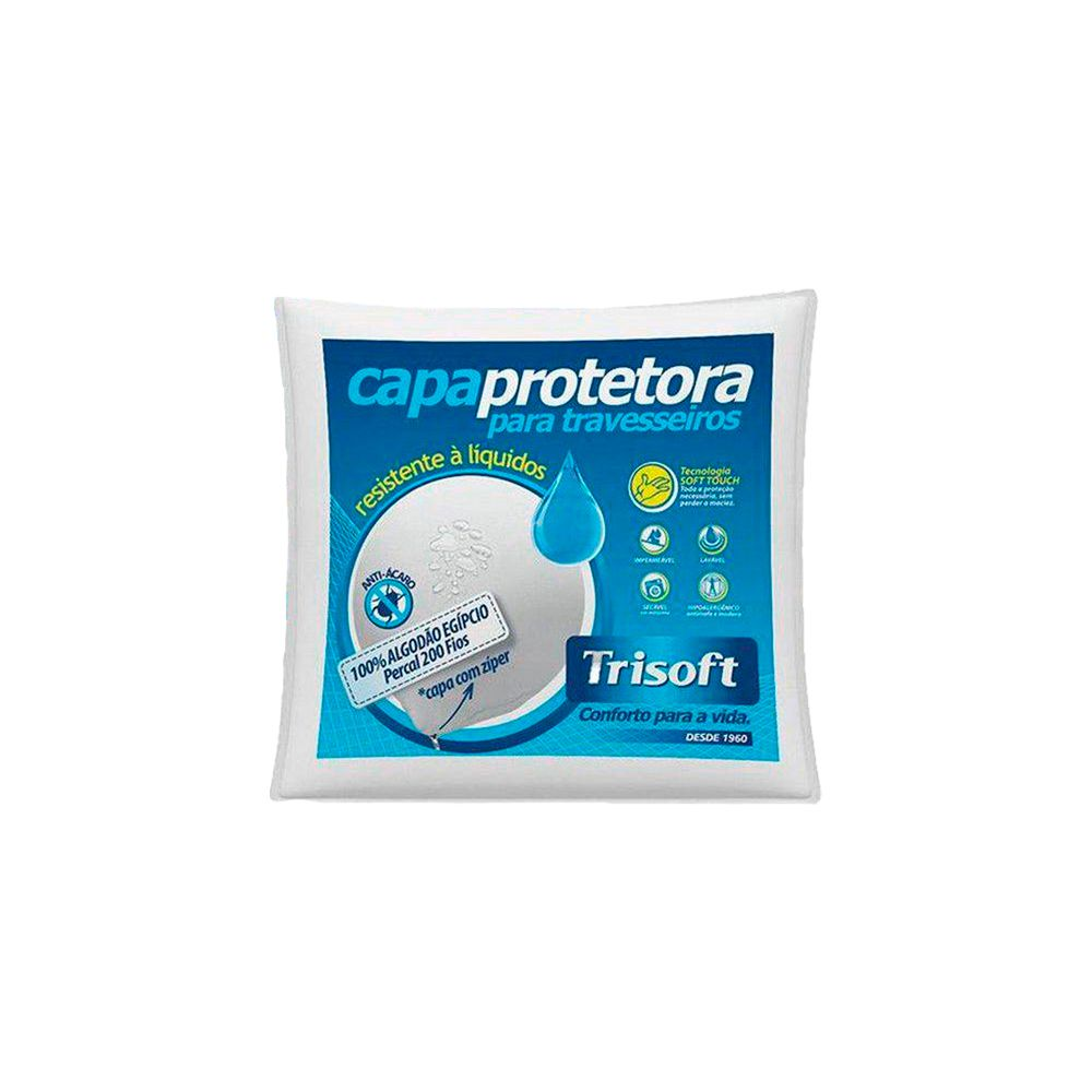 Capa Protetora Travesseiro Impermeavel com Ziper Trisoft