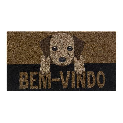 Capacho Fibra De Coco Retangular 60x33cm Cachorro