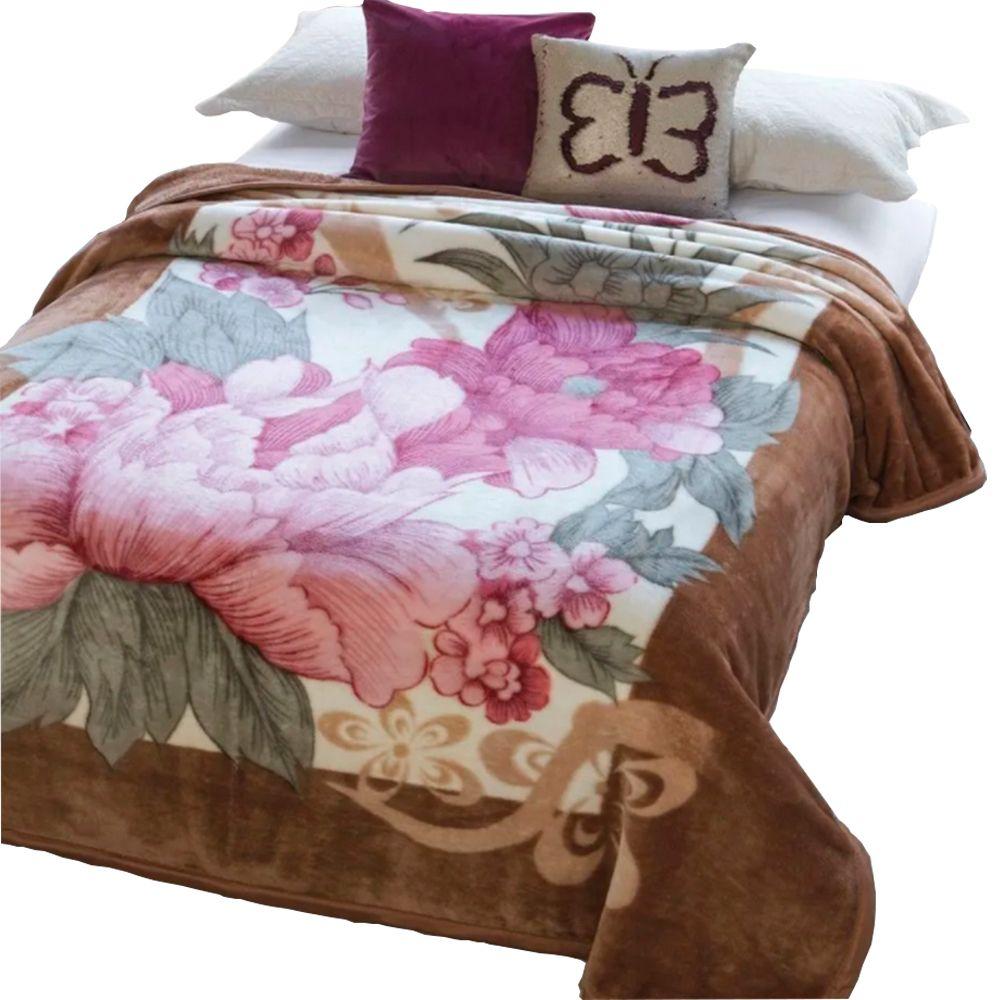 Cobertor Dyuri C/ cinta Casal Caminho Florido 180x220cm