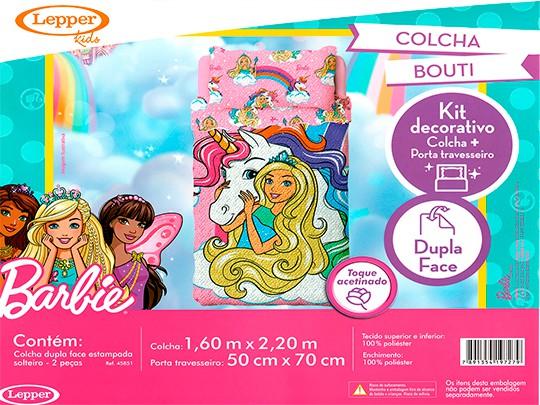 Colcha Dupla Face Barbie Reinos Magicos Com 2 peças