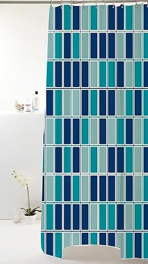 Cortina Box Pastilhado Azul  Peva 180x160cm