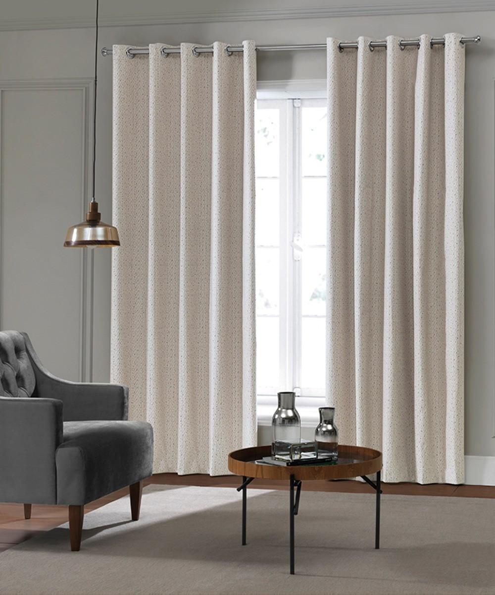 Cortina decora Estampado Digital C/ Black Out e Ilhos Martha D 2,00x1,80cm