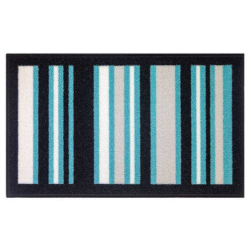 Jogo de Tapetes Para Cozinha 3 Peças Pop ColorFul Bella Casa Azul/branco