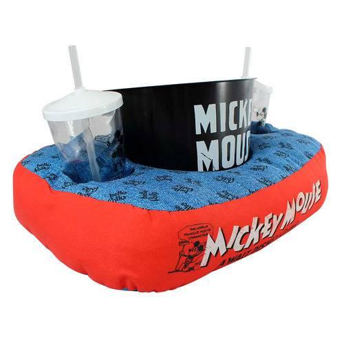 Kit Almofada Porta Pipoca Mickey Mouse Com 2 Copos e 1 Balde
