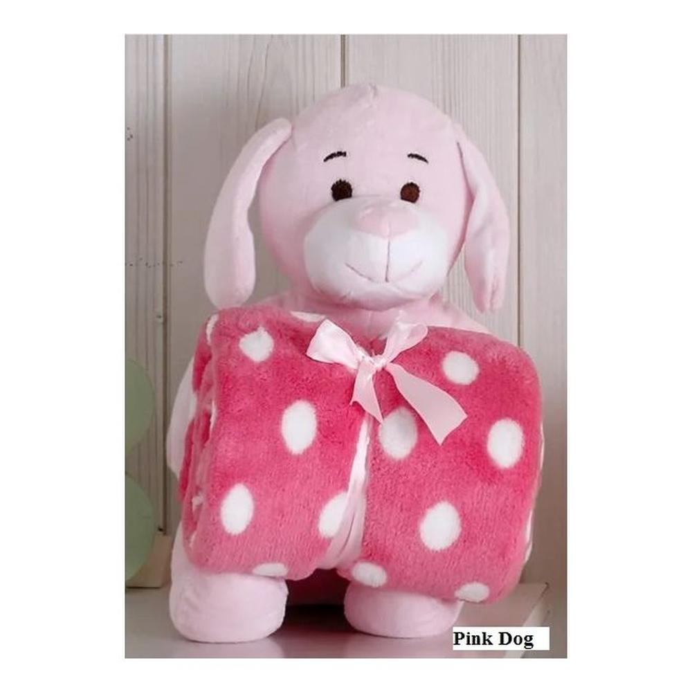 Cobertor Manta Para Bebe Cachorro Rosa De Pelucia - Bouton