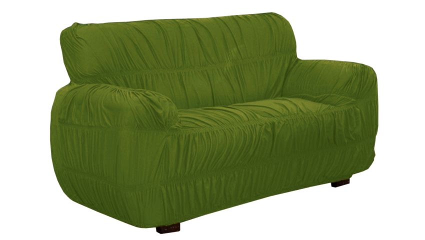 KIT Capa 2 e 3 Lugares P/ Sofa 15 Elasticos Sultan Verde