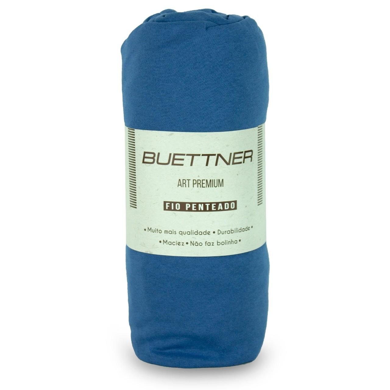 Lençol Avulso Solteiro Malha Com Elastico Azul Marine - Bouton