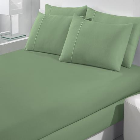 Lençol Avulso Solteiro Malha Com Elastico Verde - Bouton