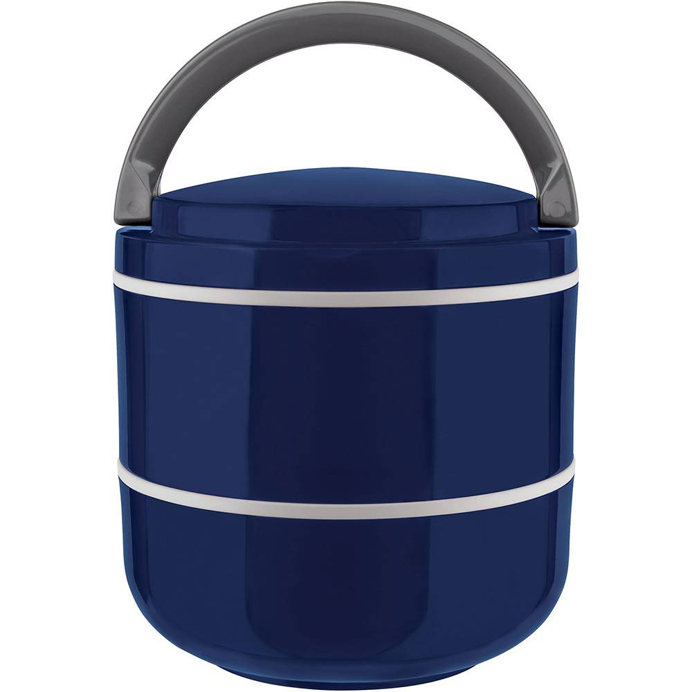 Lunch Box Marmita Microondas Dupla Azul 1,4L - Euro Home
