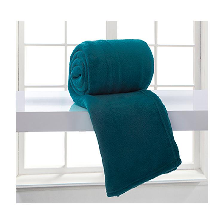 Manta Microfibra Home Design Solteiro / Azul Adriatico