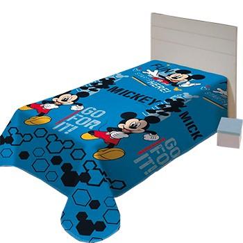 Manta Soft Poliester Disney Juvenil  Mickey Fun 150x200cm