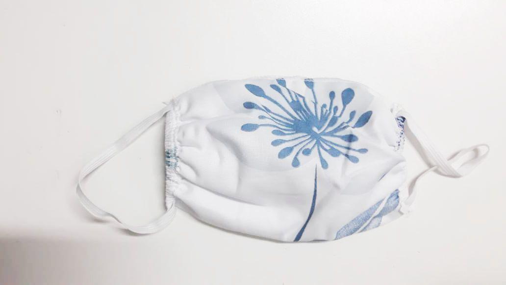 Mascara p/ proteção 18x15 branco estampado 10pçs