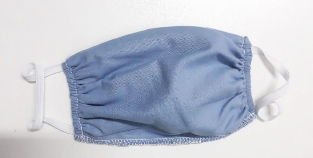 Kit de Mascara para proteção 100% algodão 18cmx15cm Azul 10 Peças
