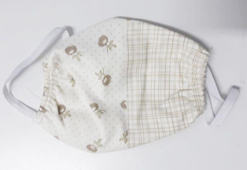 Kit de Mascara para proteção 100% algodão 18x15 Flores 10 peças