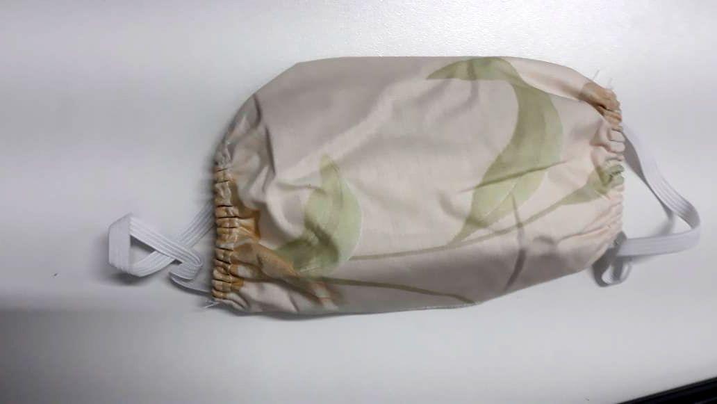 Kit de Mascara para proteção 100% algodão 18x15cm Folhas 10 Peças