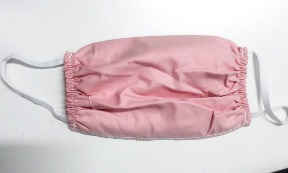 Kit de Mascara para proteção 100% algodão 18x15cm Rosa 10 peças
