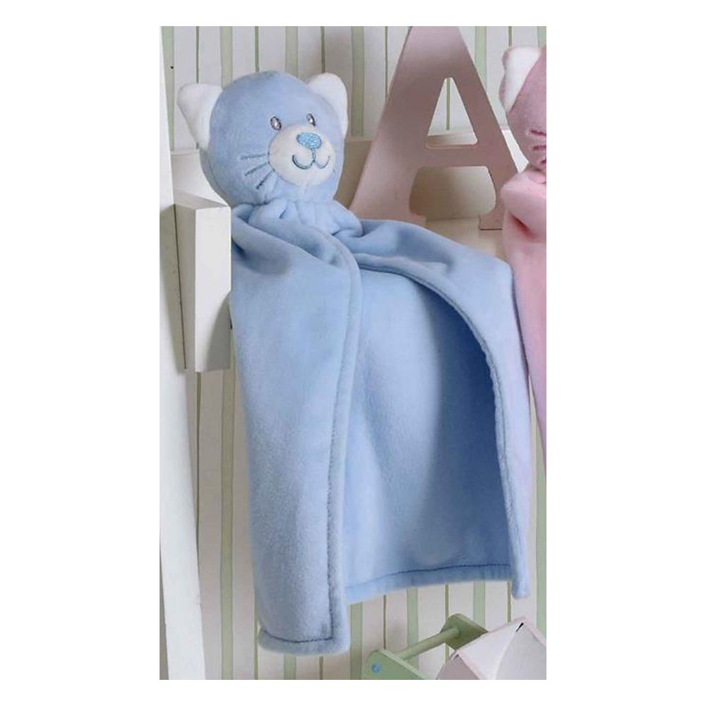 Naninha Gatinho Azul Bouton 30x30cm